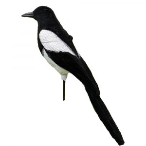 Flocked Magpie Decoy