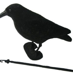 FLOCKED CROW FULL BODIED DECOY