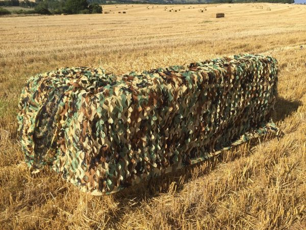 1.5m tall. Please choose length from the drop down menu. Compresses down to 1 square foot and weigh around 1.8lbs.UK harvest camo.Won't snag your gun barrels.It won't tangle even if you screw it up.The exterior layers is printed in special British foliage disruptive camo pattern and then die cut to produce a 3D moving leaf effect.The backing layer is black micromesh, which not only adds depth and shadowing to the texture but also makes the net very easy to see through from the inside.