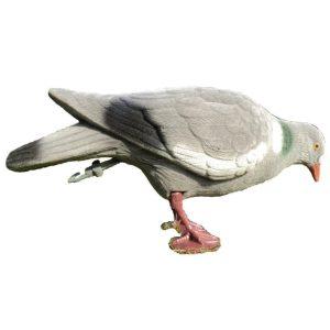 flocked pigeon decoy