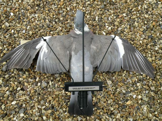 Turbo Pigeon Flapper A1 Decoy Flapping Magnet Decoying Shooting with Timer