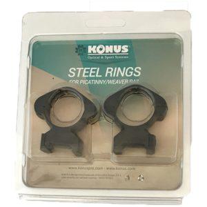 Steel Mounted Rings for Picatinny/Weaver Rail