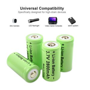 4x CR123 Rechargeable Batteries