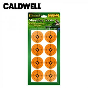 Caldwell 1 Inch Orange Shooting Target patches - 12 Sheets